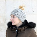 Chunky Knit Messy Bun Hat