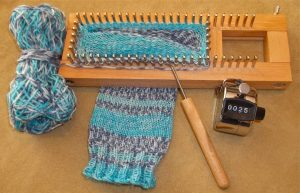 How to Knit Socks on a Rectangular Loom