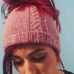 Knitted Messy Bun Hat