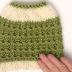 Knitted Messy Bun Hat Free Pattern