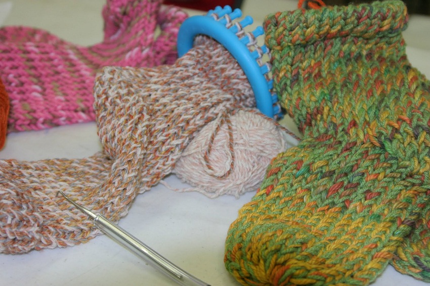 Round Knitting Loom Pattern Tube Socks