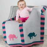 Animal Baby Blanket Loom Knit