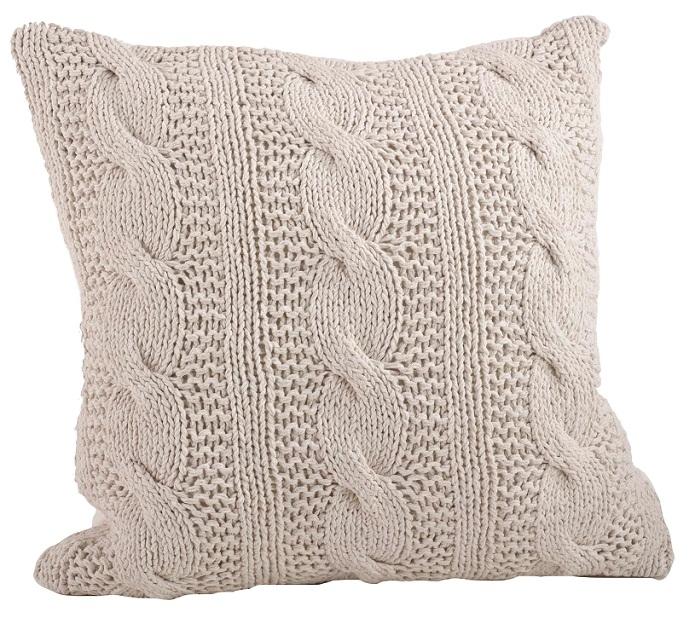 Cable Knit Lumbar Pillow
