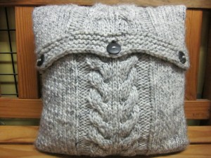 Cable Knit Pillow Cover