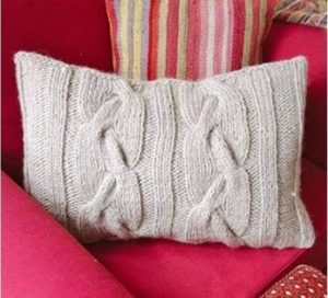 Cable Knit Throw Pillow