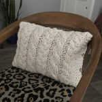 Chunky Cable Knit Pillow Cover Pattern