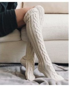 Knee High Knit Socks
