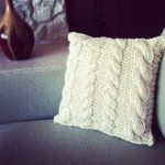 Knitting Patterns for Euro Sham Pillows with Cables