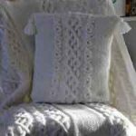 Large Cable Knit Decorative Pillow Cover Pattern Free