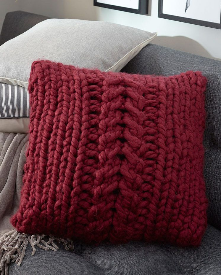 Oversized Cable Knit Pillow