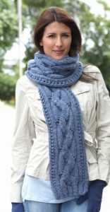 Basic Cable Knit Scarf