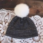 Black Double Brim Knit Hat Pattern Free