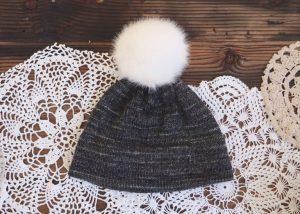 Black Double Brim Knit Hat Pattern Free