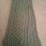 Celtic Cable Knit Scarf Pattern