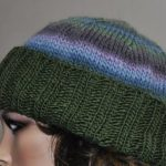 Folded Ribbed Brim Knit Hat Pattern
