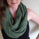 Green Knit Infinity Scarf