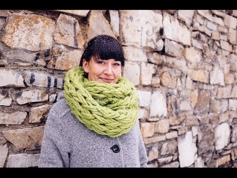 Hand Knit Infinity Scarf Pattern