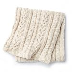 How To Make a Cable Knit Cream Thick Large Throw Blanket