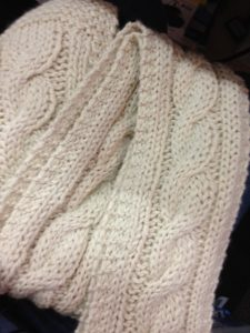 How to Cable Knit a Scarf