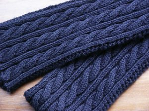 Irish Aran Scarf Knitting Pattern with Cables | Knitting ...