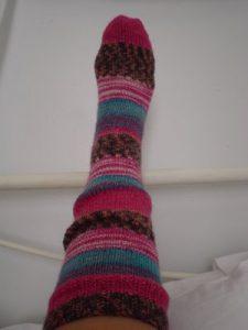 Knee High Hand Knitted Slipper Socks