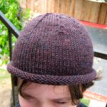 Knit Beanie Hat with Roll Brim for Babies