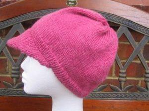 Knit Hat with Brim Pattern Free