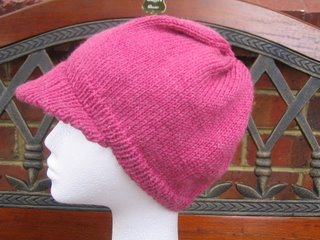 Knit Hat with Brim Pattern Free