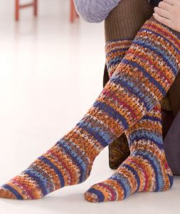 Lacy Cable Knit Knee High Boot Socks