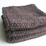Men's Herringbone Scarf Knitting Pattern