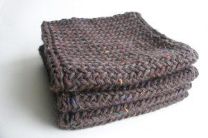 Men's Herringbone Scarf Knitting Pattern