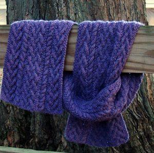 Men's Ribbed Aran Scarf Knitting Pattern Idea