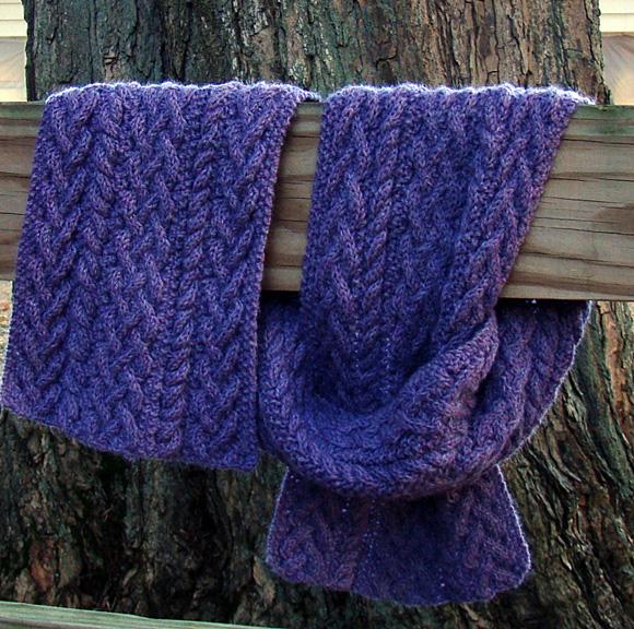 Cozy Men's Ribbed Aran Scarf Knitting Pattern Idea ...