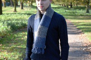 Men's Thick Wool Scarf Knitting Pattern