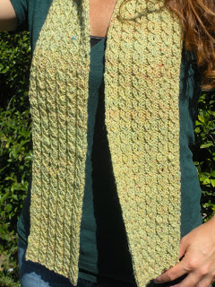 Mock Cable Knit Scarf Pattern