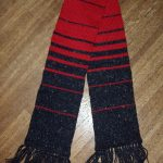 Striped Men's Scarf Knitting Pattern Design