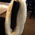 White Infinity Scarf Knit
