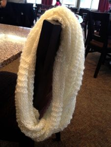 White Infinity Scarf Knit