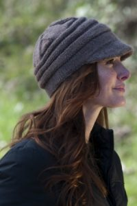 Women's Knit Hat with Brim