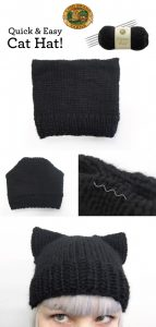 Knit Cat Ear Hat Pattern Free