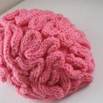Pink Knit Brain Hat