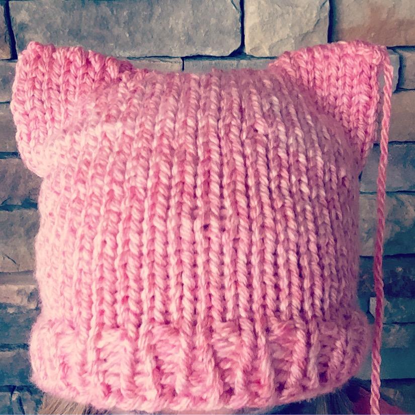 Pussy Hat Pattern Round Knitting Loom