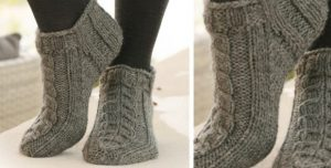 Cable Knit Ankle Socks