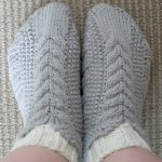 Cable Knit Bootie Slipper Socks Pattern
