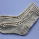 Cable Knit Crew Socks