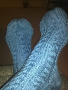 Classic Cable Knit Socks