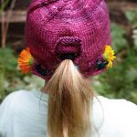 Free Knitting Pattern for Child's Ponytail Hat