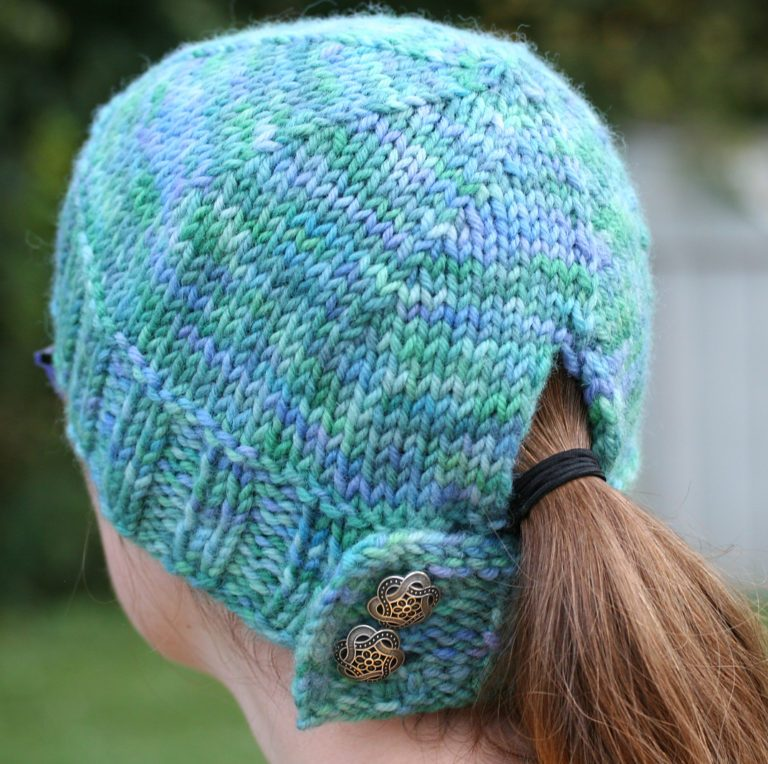 Free Knitting Pattern for Ponytail Hat