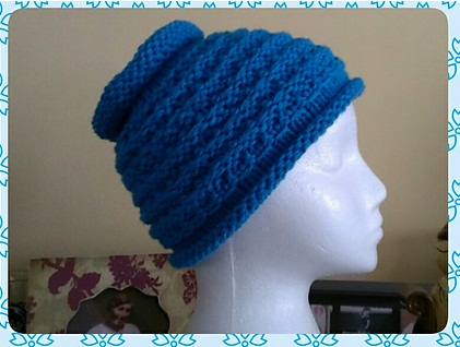 Free Knitting Pattern for Ponytail Hat on Straight Needles