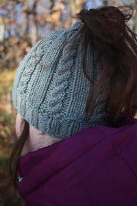 Knit Ponytail Hat Pattern